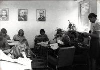 Raamatukogu lugemissaal uues õppehoones 1975. a