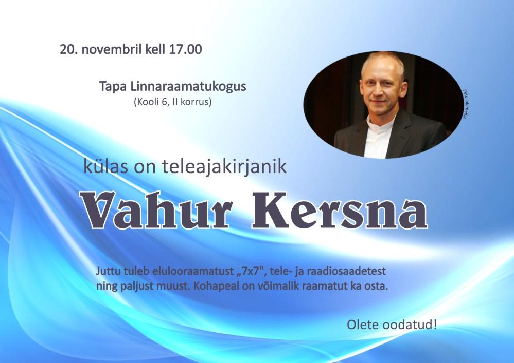 Vahur Kersna Tapa linnaraamatukogus
