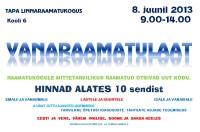 Vanaraamatulaat 8. juunil 2013 - plakat
