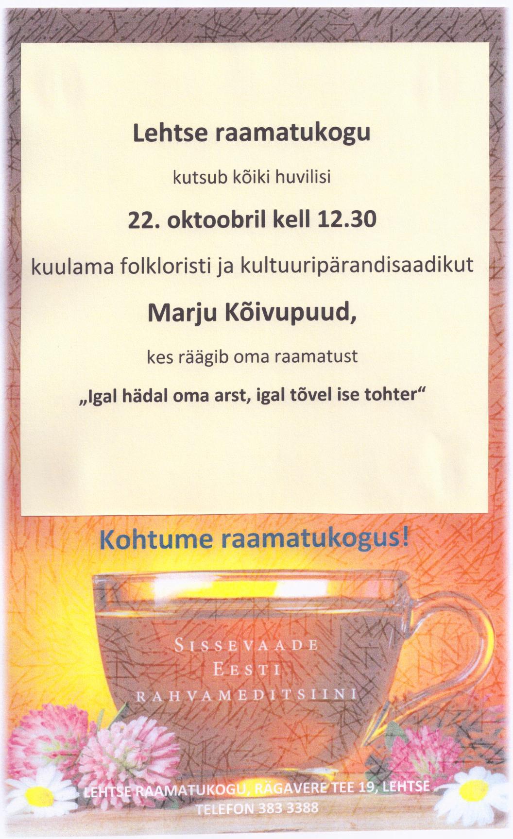 Kohtumine folkloristi ja kultuuripärandisaadiku Marju Kõivupuuga