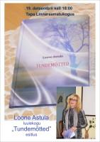 """Loone Astula luulekogu """"Tundemõtted"""" estlus"""