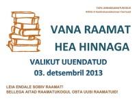 Vana raamat hea hinnaga - 03.12.2013