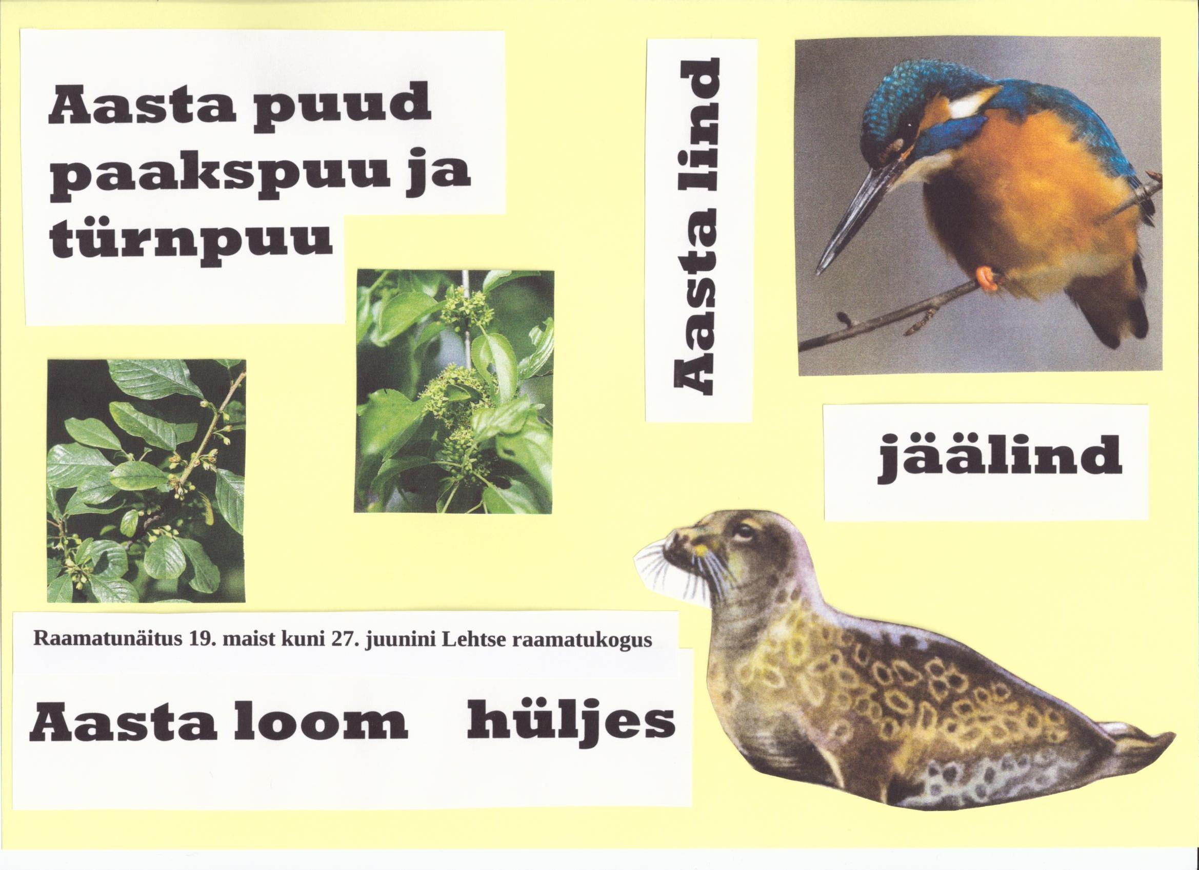 Aasta lind, loom ja puud