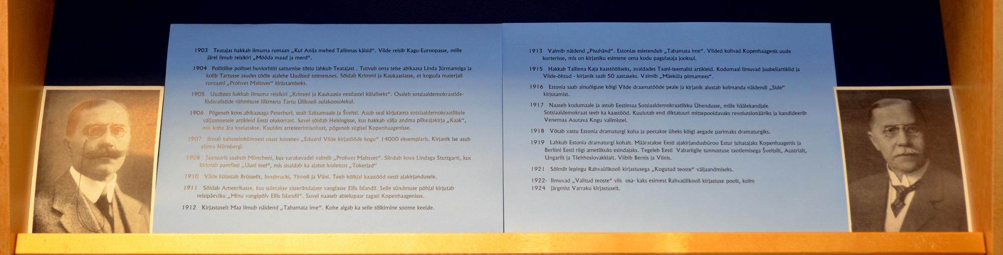 Eesti esimene krimi‑, nalja‑, reisi- ja romaanikirjanik. Eduard Vilde 150
