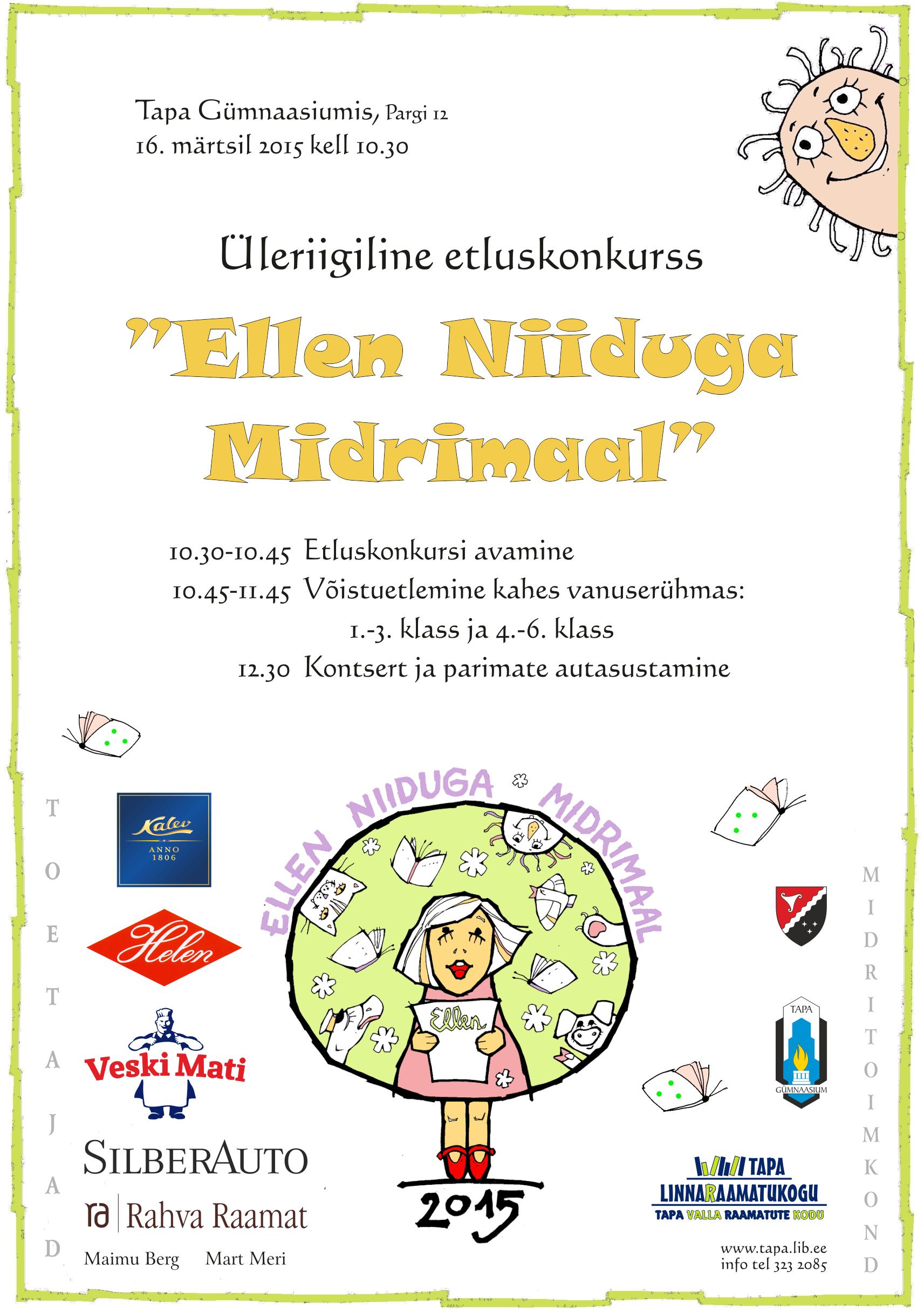 """(Eesti) """"Ellen Niiduga Midrimaal"""" 2015 — pressiteade"""