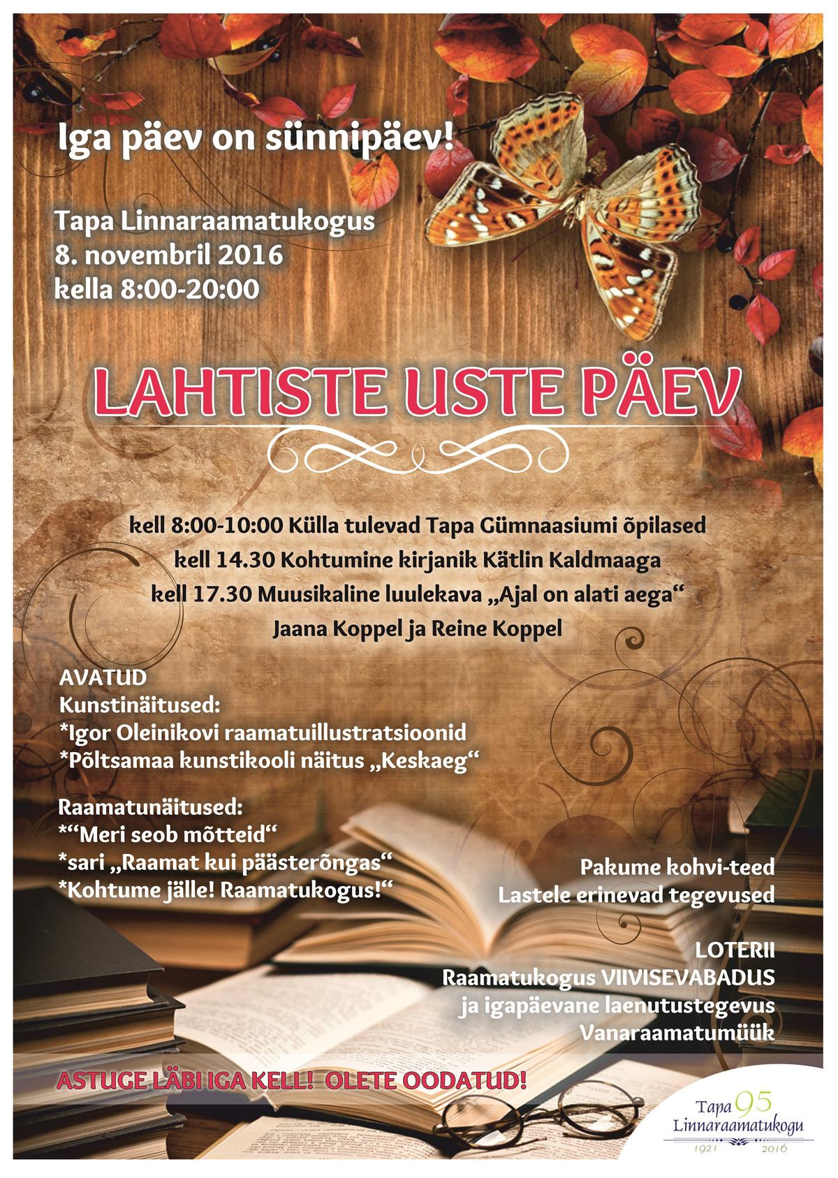 (Eesti) Lahtiste uste päev Tapa Linnaraamatukogus