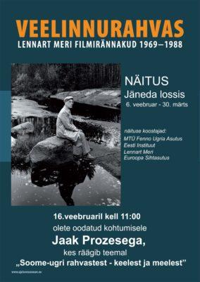 """Plakat üritusele """"Soome-ugri rahvastest - keelest ja meelest"""""""