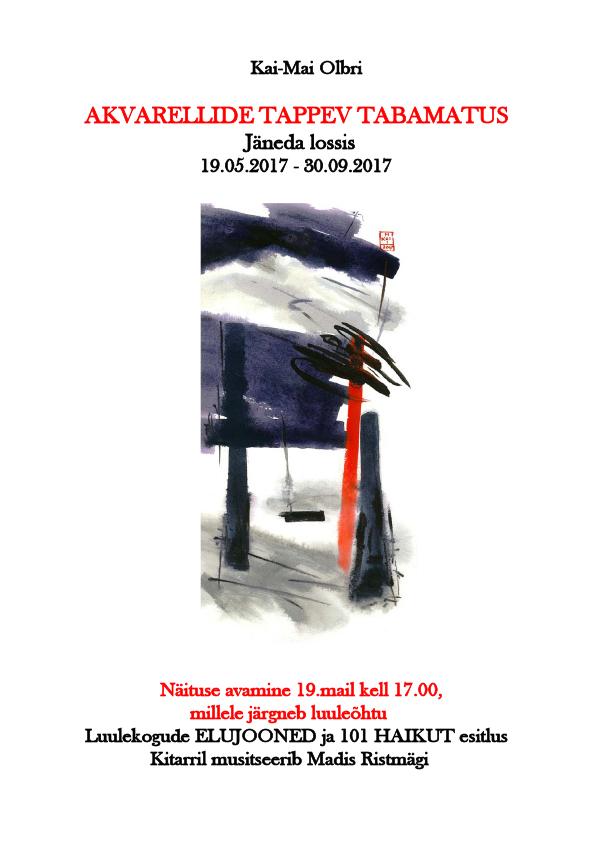 """(Eesti) Näituse """"Akvarellide tappev tabamatus"""" avamine ning luulekogude """"Elujooned"""" ja """"101 haikut"""" esitlus"""