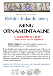 """Kristina Rajando loeng """"Minu ornamentaalne"""""""