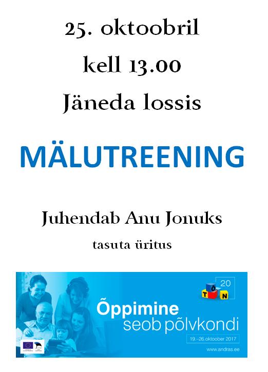 (Eesti) Mälutreening