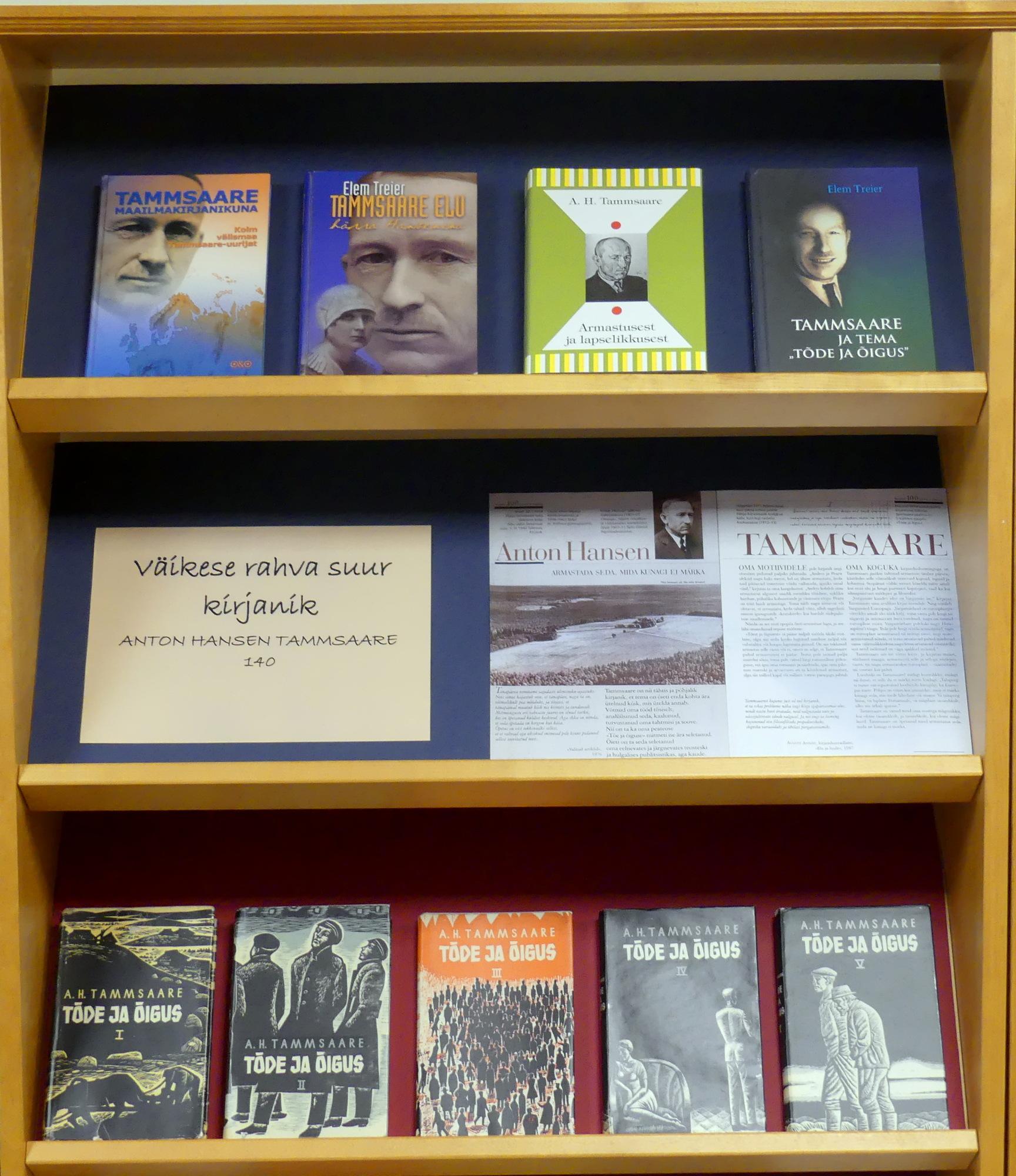 Väikese rahva suur kirjanik. Anton Hansen Tammsaare 140