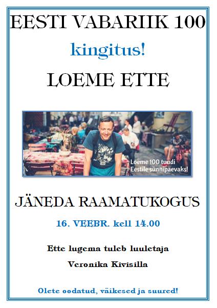Kingitus Eestile: 100 tundi ettelugemist