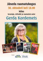 Kohtumisõhtu Gerda Kordemetsaga - plakat