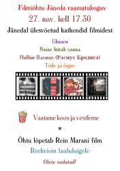 Filmiõhtu kuulutus