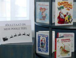 """Raamatuväljapanek """"Jõulutaat on meie poole teel"""""""