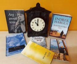 """Pilt Tamsalu raamatukogu väljapanekult """"Aeg ei peatu"""""""