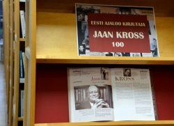 "Pilt näituselt ""Eesti ajaloo kirjutaja Jaan Kross 100"""