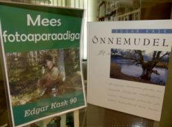 """Raamatunäitus """"Mees fotoaparaadiga. Edgar Kask 90"""" Tapa raamatukogus"""
